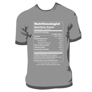 Nutritionologist Sequel T-Shirt